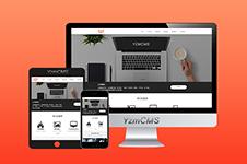 <span style='color:red;'><b>YzmCMS</b></span>响应式橙色大气html5企业网站模板